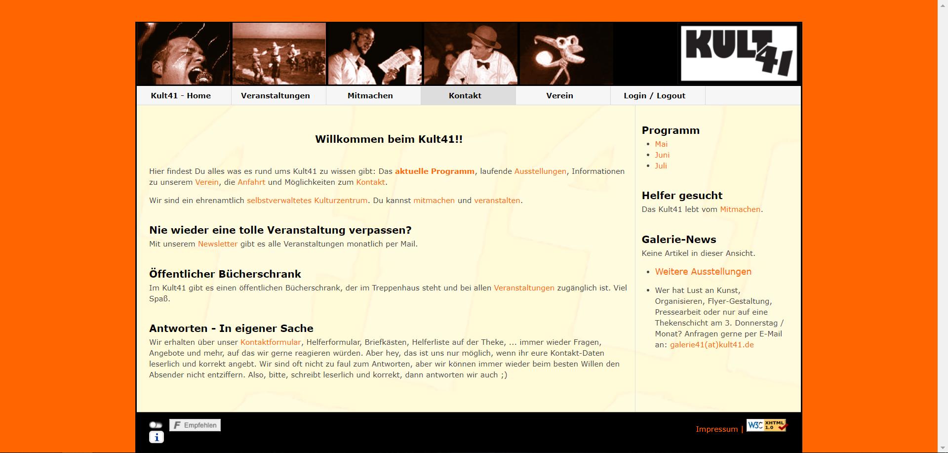 Relaunch der KULT41 Webseite !