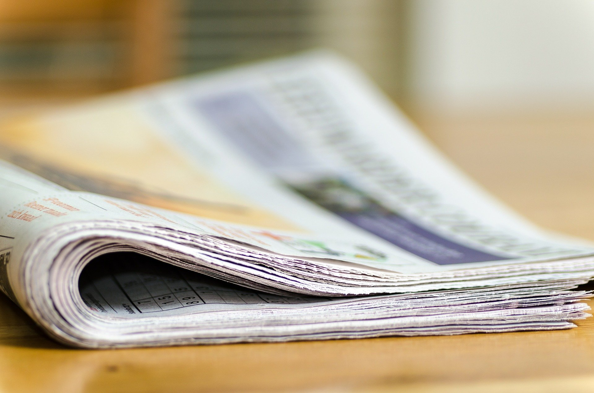 News in der Zeitung